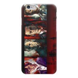 "Чехол для iPhone 6 глянцевый ""Шерлок Холмс (Sherlock Holmes)"" - sherlock, мориарти, шерлок, ватсон"