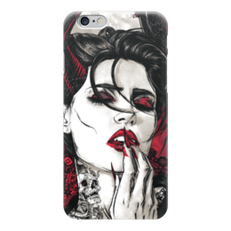 "Чехол для iPhone 6 ""Вампир"" - девушка, кровь, иллюстрация, vampire, вампир"