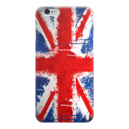 "Чехол для iPhone 6 глянцевый ""Флаг Великобритании"" - флаг, великобритания, union jack, uk"