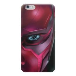 """Чехол для iPhone 6 """"Вижн (Vision)"""" - комиксы, мстители, марвел, эра альтрона"""