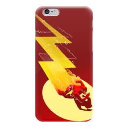 "Чехол для iPhone 6 глянцевый ""Флэш (Flash)"" - flash, комиксы, dc, dc comics"