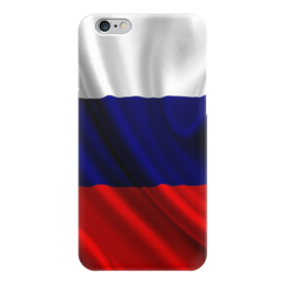 "Чехол для iPhone 6 ""Российский флаг"" - россия, российский флаг, iphone 6"
