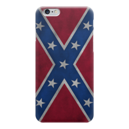 "Чехол для iPhone 6 ""Флаг Конфедерации США"" - америка, usa, flag, конфедерация, флаг конфедерации"