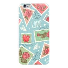 """Чехол для iPhone 6 """"LOVE """" - 14 февраля, hard, пары, открытка"""