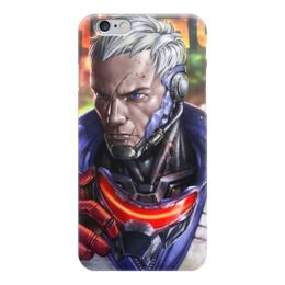 "Чехол для iPhone 6 ""Солдат 76"" - blizzard, близзард, overwatch, овервотч, soldier 76"