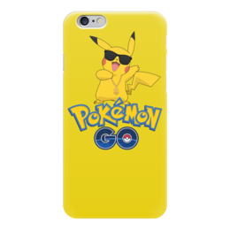 "Чехол для iPhone 6 ""Pokemon GO"" - игра, покемон, пикачу, доллар, pikachu"
