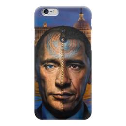 """Чехол для iPhone 6 глянцевый """"Путин / Обама"""" - америка, россия, обама, путин, президент"""