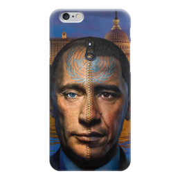 "Чехол для iPhone 6 ""Путин / Обама"" - америка, россия, обама, путин, президент"
