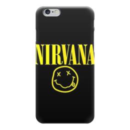 """Чехол для iPhone 6 глянцевый """"nirvana"""" - музыка, nirvana, нирвана, гранж"""
