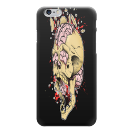 """Чехол для iPhone 6 глянцевый """"череп"""" - череп, черный, 6"""