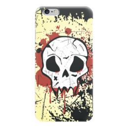 """Чехол для iPhone 6 """"Grunge Skull"""" - skull, череп, гранж, хэллоуин, хардкор"""