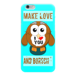 "Чехол для iPhone 6 "" Loving Bird"" - сердце, птицы, надписи, борщ, i love you"