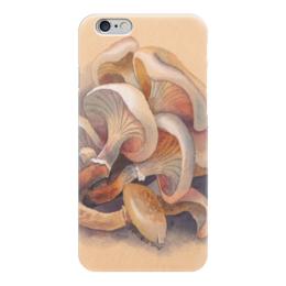 "Чехол для iPhone 6 ""Грибы"" - белый, бежевый, грибы"