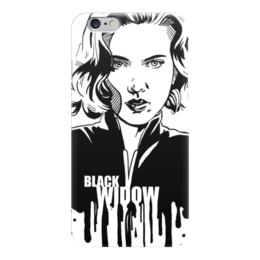 """Чехол для iPhone 6 """"Черная вдова"""" - комиксы, мстители, avengers, марвел, black widow"""