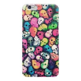 """Чехол для iPhone 6 глянцевый """"Skull Art"""" - skull, череп, черепа, арт дизайн, арт"""