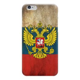 """Чехол для iPhone 6 """"Флаг Российской Федерации"""" - россия, герб, russia, flag, флаг россии"""
