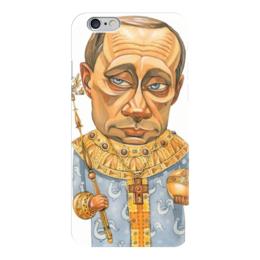 """Чехол для iPhone 6 """"Путин"""" - москва, русский, россия, президент"""