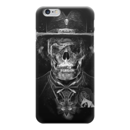 "Чехол для iPhone 6 ""Mr. Skull"" - skull, череп, костюм, фокусник"