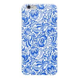 """Чехол для iPhone 6 глянцевый """"Гжель"""" - рисунок, роспись, гжель"""