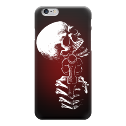 "Чехол для iPhone 6 глянцевый ""Skull Art"" - skull, gun, череп, пистолет, арт дизайн"