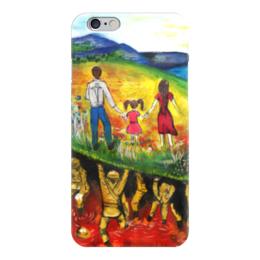 """Чехол для iPhone 6 """"Цена мира"""" - благотворительность, ручная работа, детский рисунок, от детей, детская работа"""