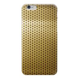 """Чехол для iPhone 6 глянцевый """"Золотая сетка"""" - металл, gold, золото"""