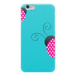 """Чехол для iPhone 6 """"Божьи коровки"""" - для девушки"""