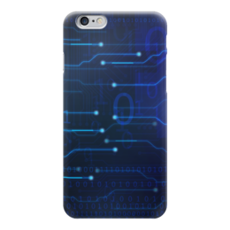 """Чехол для iPhone 6 """"Матрица"""" - матрица, хакер, чип, микросхема, цифровой"""