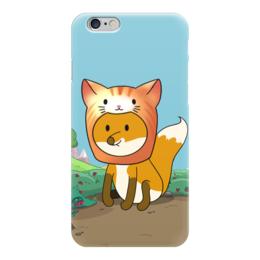 """Чехол для iPhone 6 """"Лисенок в шапочке котика"""" - милый, котик, лиса, лисенок, пушистик"""