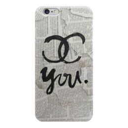 "Чехол для iPhone 6 """"For YOU"" cover"" - девушке, бренд, газета, шанель"