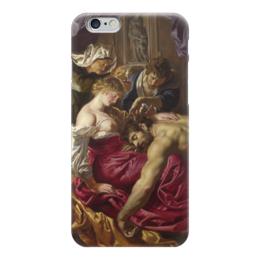 """Чехол для iPhone 6 """"Самсон и Далила (картина Питера Пауля Рубенса)"""" - картина, библия, рубенс"""