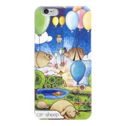 """Чехол для iPhone 6 """"Lollypups #34 (air sheep)"""" - арт, позитив, счастье, подарок, овечка"""