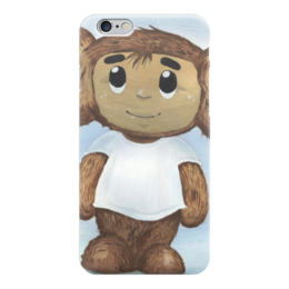 """Чехол для iPhone 6 """"Чебурашка"""" - рисунок, чебурашка, союзмультфильм, leshiystudio"""