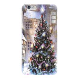 """Чехол для iPhone 6 глянцевый """"елочка"""" - новый год, ёлочка, new year, christmas tree, ёлка"""