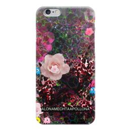"Чехол для iPhone 6 ""8 bit"" - 8 bit, space, collage, roses"