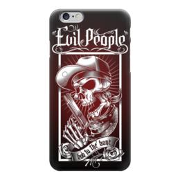 """Чехол для iPhone 6 """"Злые Люди"""" - skull, череп, пистолет, evil, зло"""