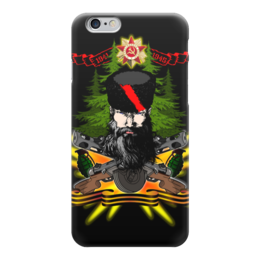 "Чехол для iPhone 6 ""ПАРТИЗАН!!!"" - война, лес, автомат, партизан, папаха"