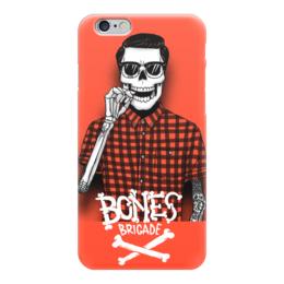 """Чехол для iPhone 6 глянцевый """"Bones Brigade"""" - skull, череп, skeleton, скелет, bones brigade"""