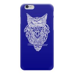 """Чехол для iPhone 6 """"Совушка"""" - птица, рисунок, графика, сова, owl"""