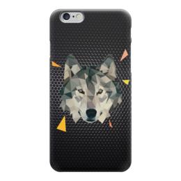 "Чехол для iPhone 6 ""Волк (Wolf)"" - волк, wolf, полигоны, polygons"