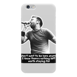 """Чехол для iPhone 6 глянцевый """"Rise Against"""" - rise against, i don'w want to be here anymore"""
