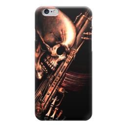 "Чехол для iPhone 6 ""ДО КОНЦА!!!"" - skull, череп, weapon, автомат, ак"