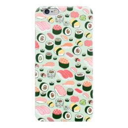 """Чехол для iPhone 6 глянцевый """"Я Люблю Суши!"""" - еда, суши, sushi, i love sushi"""