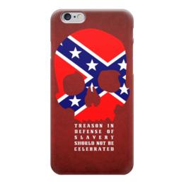 """Чехол для iPhone 6 глянцевый """"Флаг Конфедерации США"""" - америка, флаг, сша, флаг конфедерации, череп"""