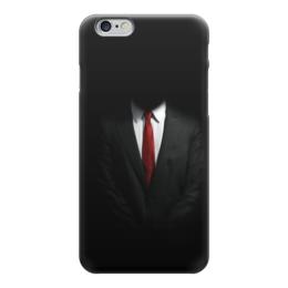 """Чехол для iPhone 6 """"Костюм"""" - черный, галстук, белая, рубашка, костюм"""