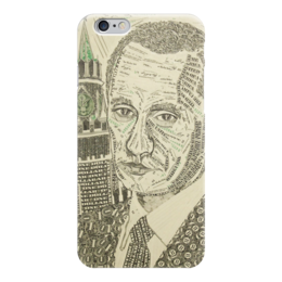 "Чехол для iPhone 6 ""Путин - Доллар"" - россия, политика, путин, доллар, рубль"