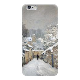 """Чехол для iPhone 6 """"Снег в Лувесьене"""" - картина, сислей"""