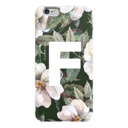 "Чехол для iPhone 6 ""Flower love"" - цветок, flower, дизайн, буква, цветочный принт"