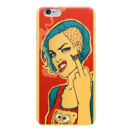 "Чехол для iPhone 6 ""Bad Girl"" - девушка, bad, girl, fuck you, арт дизайн"