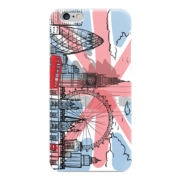 "Чехол для iPhone 6 ""AnGet-ART"" - рисунок, лондон, британия, британский флаг, отруки"